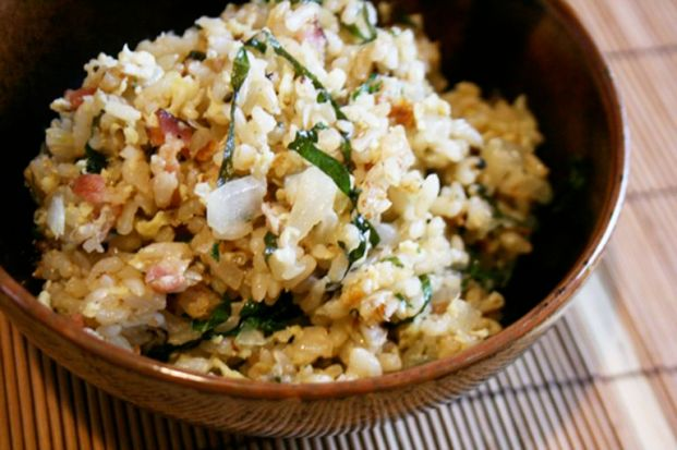 bacon shiso fried rice