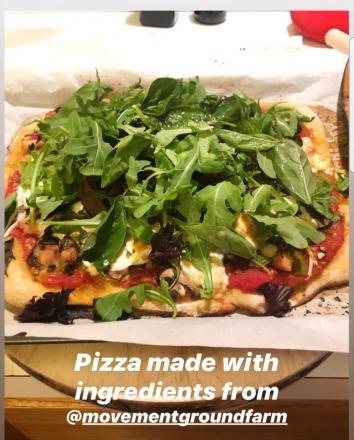 Kevin mgf pizza w: tom, shiso, basil, shallot