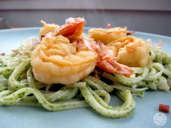 Shiso-Pesto pasta