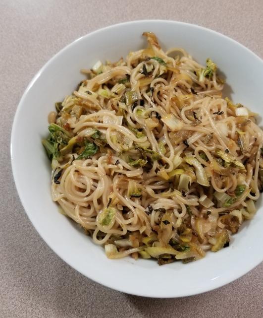 Judy bittermelon tokana scallion bok noodles